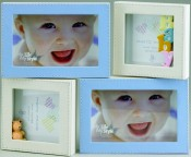 Blue and Ivory Baby Picture Frame
