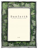 Green Leaf Picture Frame in Solid Pewter