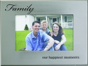 Silver Metal Family Picture Frame