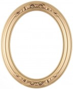 Chloe Gold Spray Oval Picture Frame