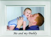 Brushed Silver Me and My Daddy Picture Frame