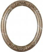 Chloe Champagne Silver Oval Picture Frame