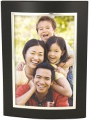 Black and Silver Dome Metal Picture Frame