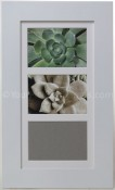 Metro White Matted Triple Picture Frame