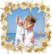Taupe Sand and Sea Beach Picture Frame