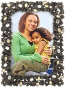 Hematite Jeweled Picture Frame