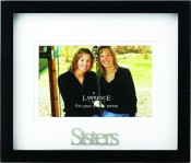 Sisters Picture Frame with 3 Dimensional Wording