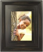 Distressed Dimensional Black Wood Picture Frame