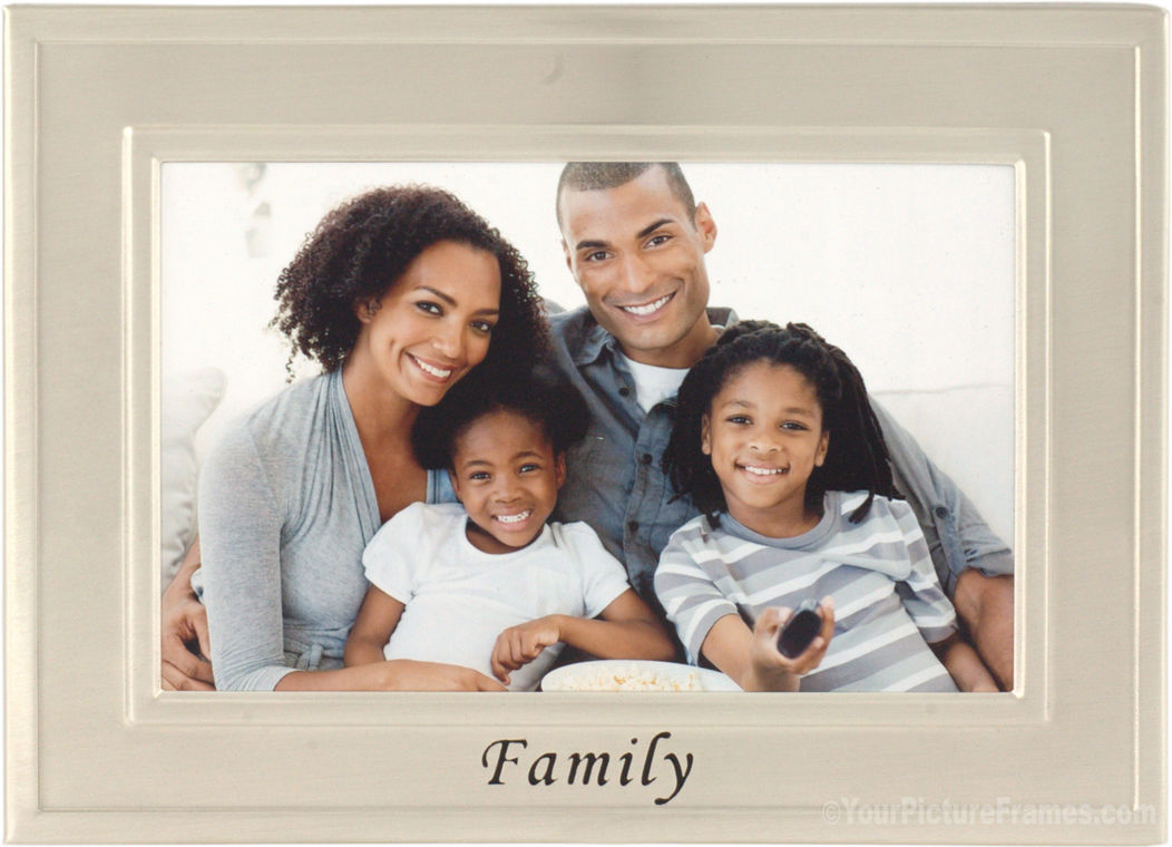 Brushed Silver Family Picture Frame