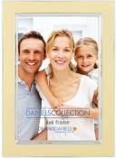 Vanilla Creme Enamel Silver Plate Picture Frame
