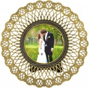 Slinky Round Antique Picture Frame