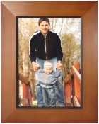 Chesnut Brown Picture Frame with Black Edge