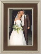 Verona Brown and Pewter Picture Frame