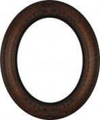 Emma Vintage Walnut Oval Picture Frame