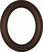Emma Vintage Walnut Oval Picture Frame
