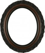 Mia Rosewood Oval Picture Frame