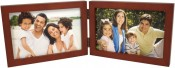 Simple Wood Walnut Horizontal Double Picture Frame