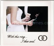 Brushed Silver Wedding Picture Frame with Inscription