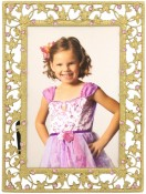 Tresses Pink Jeweled Picture Frame