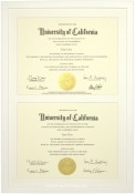 White Wood Double Diploma Frame