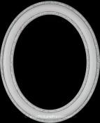 Melinda Linen White Oval Picture Frame