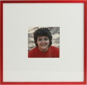 Tornado Red Matted Square Picture Frame