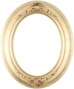 Emma Gold Leaf Oval Picture Frame
