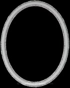 Sadie Linen White Oval Picture Frame