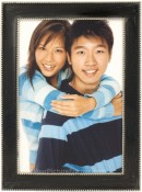 Charcoal Black Beaded Picture Frame