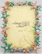 Jeweled Shells Picture Frame