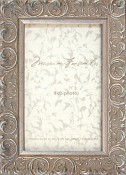 Andrea Silver Leaf Picture Frame