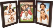 Simple Wood Espresso Triple Picture Frame