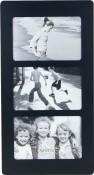 Contemporary Black Triple Picture Frame