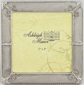 Classic Silver Pearl Wedding Picture Frame