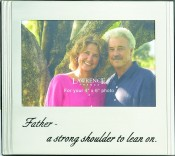 Brushed Silver Father Picture Frame with Inscription