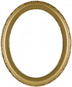 Trina Gold Oval Picture Frame