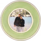 Montmartre Green Round Picture Frame