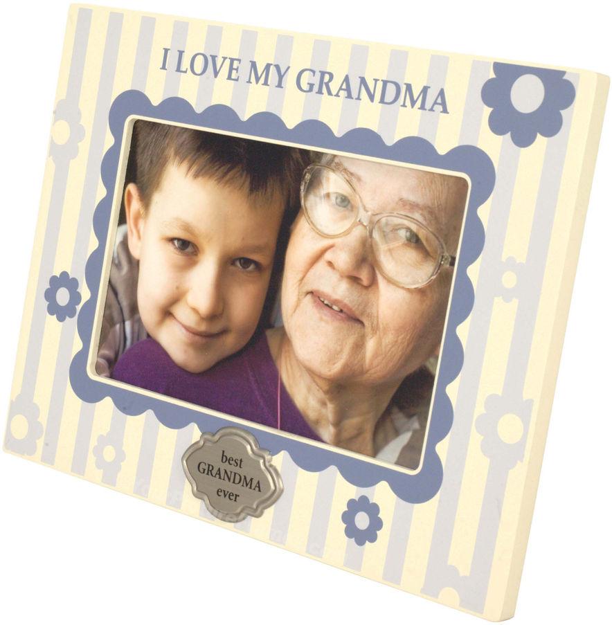 Blue I Love My Grandma Picture Frame