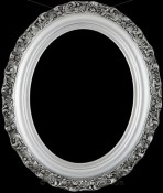 Mia Silver Spray Oval Picture Frame