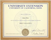 Natural Stained Wood Diploma Frame