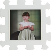 Kids White Foam Picture Frame