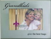Silver Metal Grandkids Picture Frame