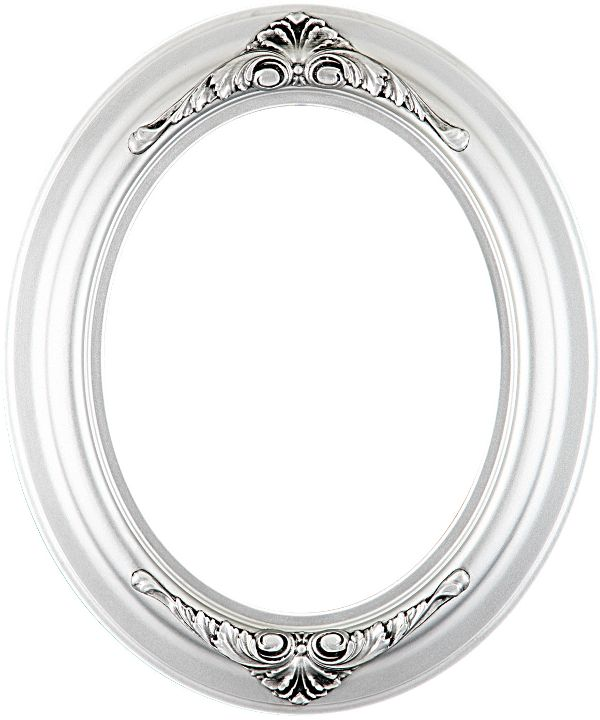 Emma Silver Oval Picture Frame