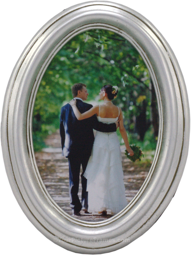 Oval picture frames oval photo frames classic silver leaf oval frame jeuxipadfo Image collections