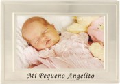 Brushed Silver Mi Pequeno Angelito Baby Picture Frame