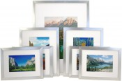 Set of 7 Silver Matted Gallery Picture Frames