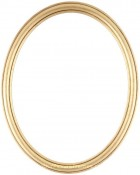 Laini Gold Leaf Oval Picture Frame