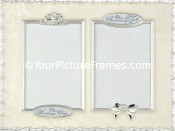 Silver Roses 25th Anniversary Double Picture Frame