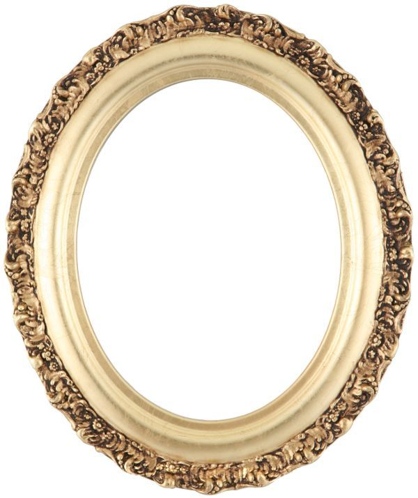 mia gold leaf oval picture frame