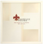 Simple White Wood Scrapbook Picture Frame